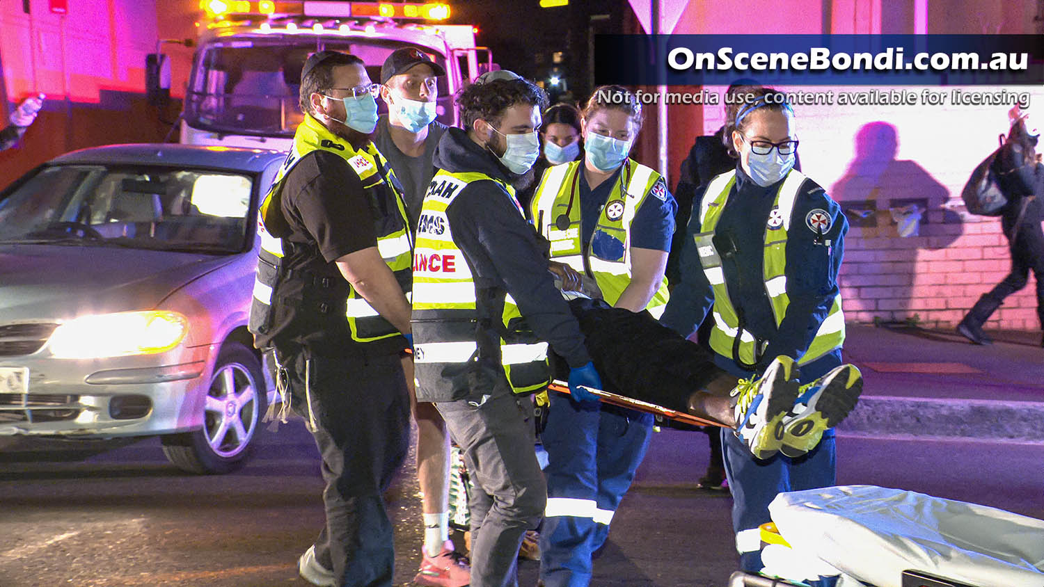 Motorcycle rider transported to hospital after crash in Bondi Junction