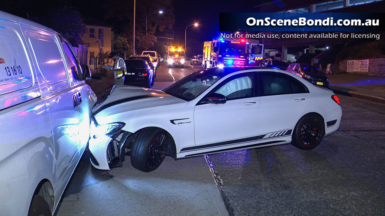 Four cars damaged after crash in Bondi overnight