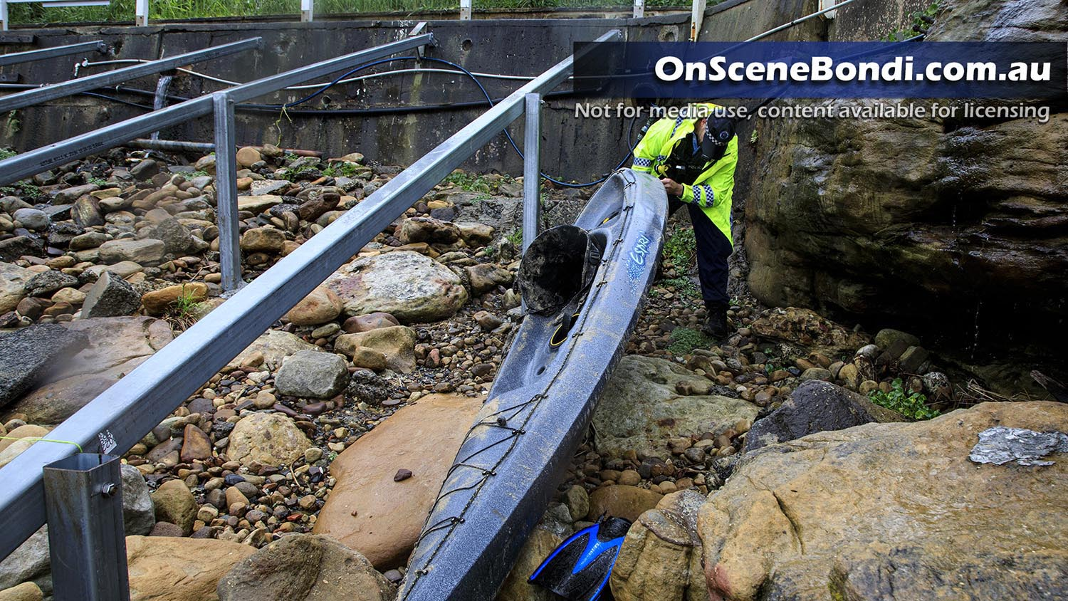 Major search operation initiated after Kayak found on rocks in Gordons Bay