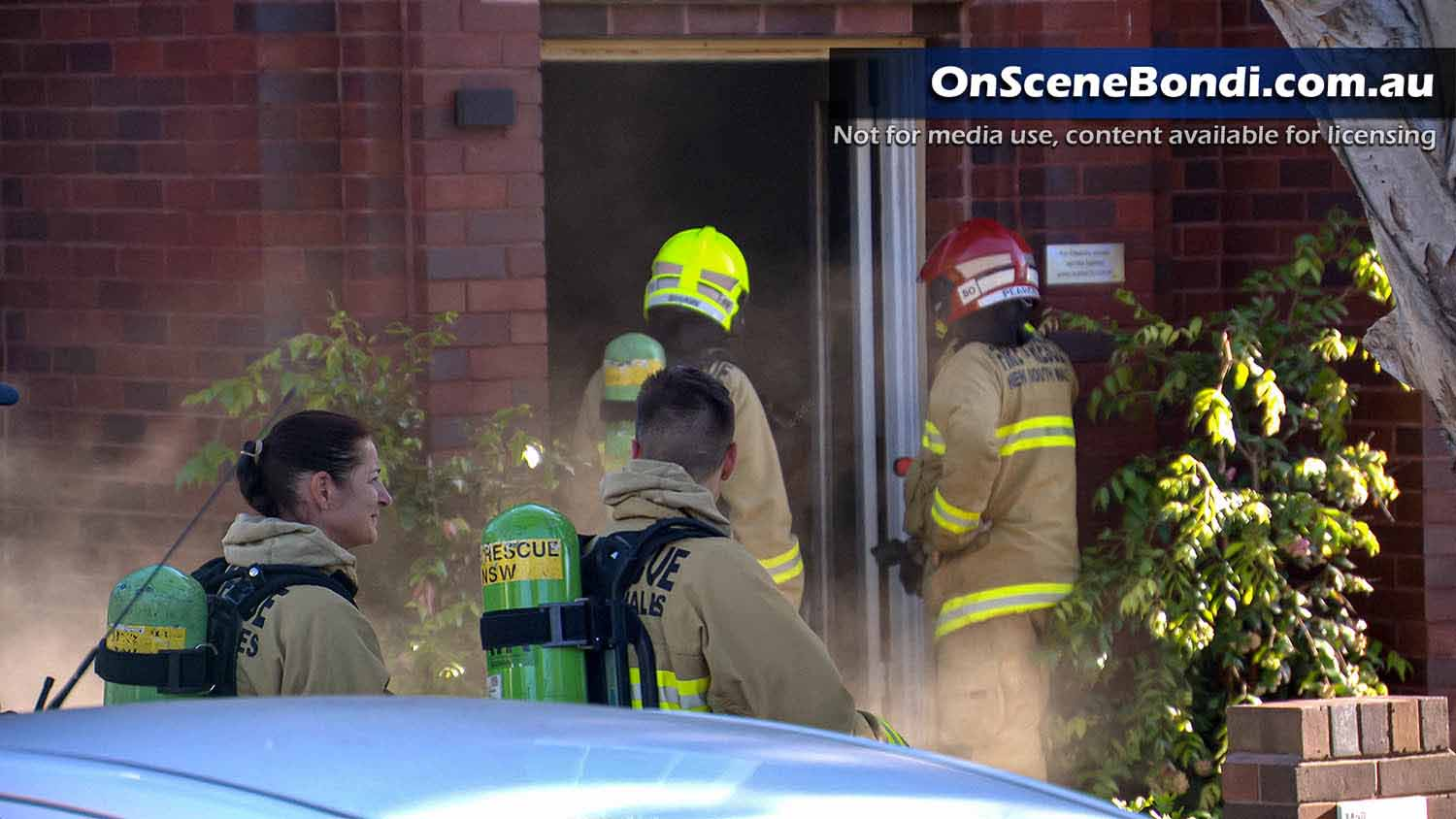 Fire fighters respond to unit blaze in Blair St Bondi